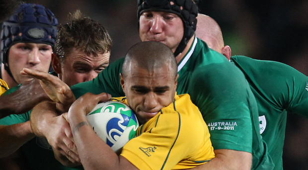 Flashback: Stephen Ferris gets to grips with Will Genia in 2011
