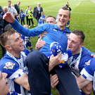 Winning admirers: Coleraine boss Oran Kearney has fostered a great relationship with his players. He will be interviewed for the St Mirren job this week.