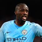 Hitting out: Yaya Toure