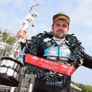 Prize guy: Michael Dunlop celebrates his Supersport win