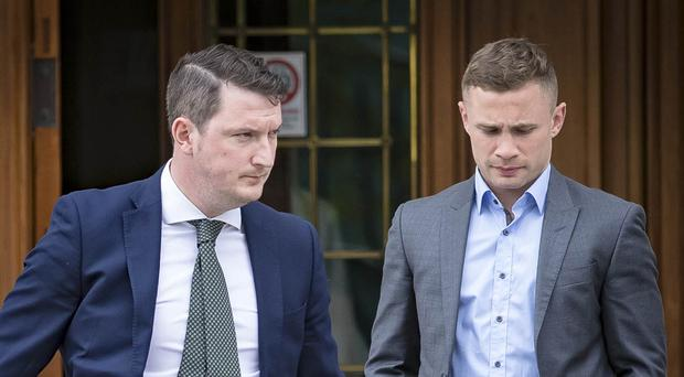 Carl Frampton leaves Belfast High Court on June 5th 2018 (Picture by Kevin Scott / Belfast Telegraph)