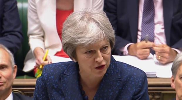 News of the impending publication came as Theresa May clashed with Labour leader Jeremy Corbyn at Prime Minister's Questions over the Government's Brexit plans (PA Wire/PA Images)