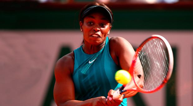 Looking up: Sloane Stephens is hoping for final glory ahead of her clash with World No.1 Simona Halep