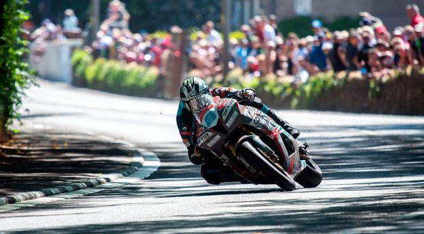 On mission: Michael Dunlop is targeting a fourth TT victory of the week, which would be his 19th overall and 50th for the Dunlops