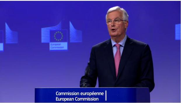 Michel Barnier said that Theresa May's customs backstop proposal raised difficult questions (European Commission Audiovisual Services)