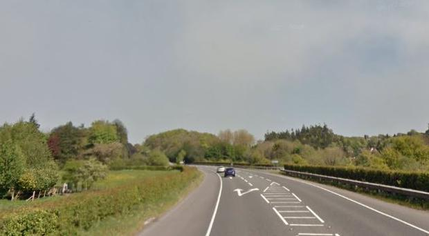 The stretch of the A4 where the crash happened / Credit: Google Maps