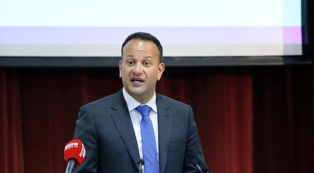 The Taoiseach, Leo Varadkar, was in West Belfast today to launch the 30th anniversary events programme of Féile an Phobail, the West Belfast Community Festival, at an event in St Marys University College on the Falls Road - Credit: Kelvin Boyes / Press Eye.