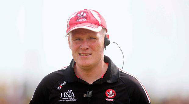 Upbeat: Damian McErlain is hoping Derry can turn on style