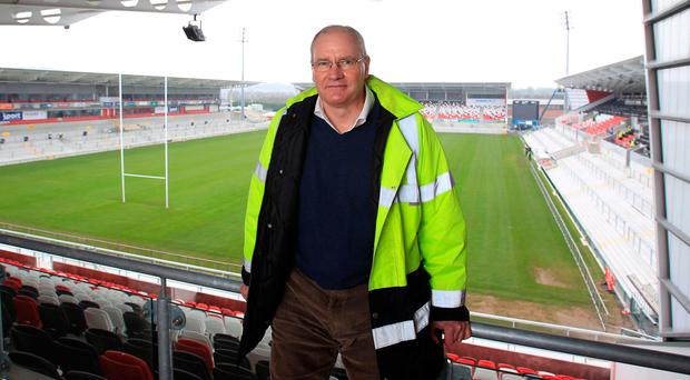 Up and down: Shane Logan was at the helm during the revamp of the old Ravenhill but he also had to witness a succession of disappointments such as exiting the European Champions Cup at the group stages this season with Les Kiss a frustrated head coach
