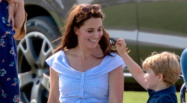 The Duchess of Cambridge with Princess Charlotte and Prince George