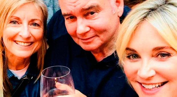 Fiona Phillips, Eamonn Holmes and Anthea Turner take a selfie at their GMTV reunion