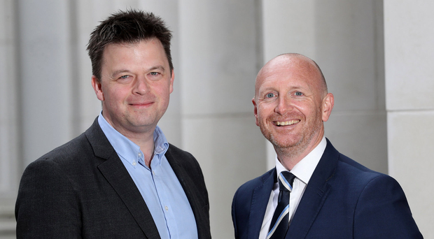 Philip Bain, of Shredbank, and Damian Campbell, Fleet Financial