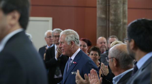 The Prince of Wales arrives at Carlisle Memorial Methodist Church in Belfast (Brian Lawless/PA)