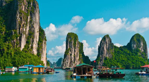 Enchanting: The spectacular beauty of Unesco World Heritage site Halong Bay and its 1,600 will take your breath away.