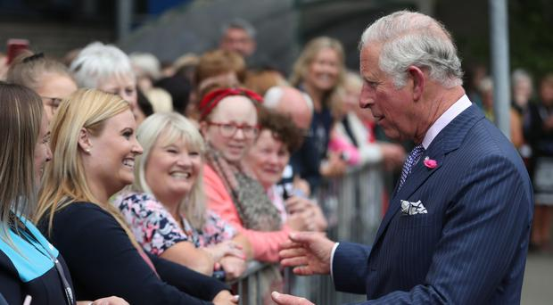 The Prince of Wales meeting the public during a walkabout (Niall Carson/PA)