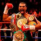 Illustrious career: David Haye as cruiserweight world champion