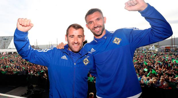 Looking ahead: Niall McGinn and Gareth McAuley are among some of the top names doing their coaching badges in NI