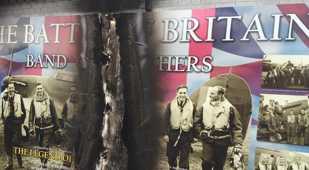 Murals on the lower Shankill have been attacked. Credit: William Humphreys
