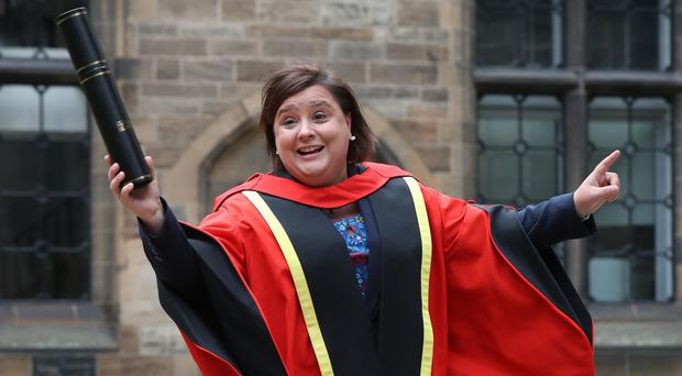 Susan Calman was awarded an honorary degree for her work as a broadcaster (Andrew Milligan/PA)