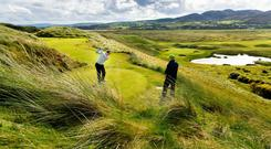 The spectacular seventh hole at Ballyliffin