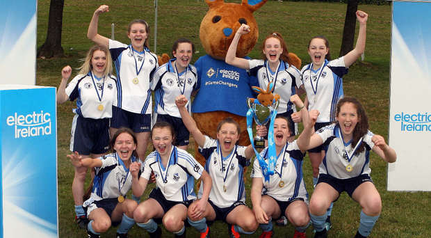 Assumption Grammar School, winners of the Electric Ireland Super Schools Football Festival Senior section, with their trophy