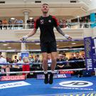 Ready to rumble: Paul Hyland at the public workout in Newcastle