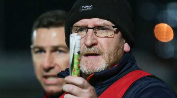Fury: Armagh Under-20 boss Peter McDonnell is irate about suspensions dished out to his players