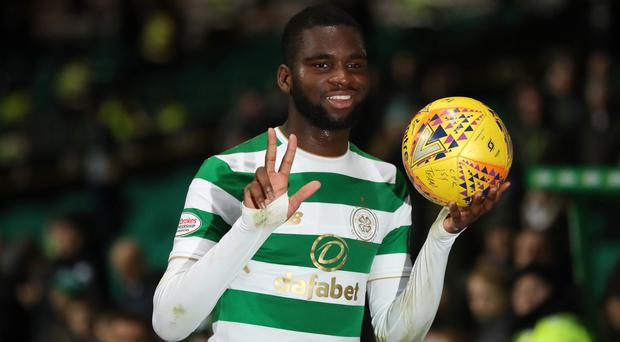 Staying put: Odsonne Edouard says he feels at home after joining Celtic on a permanent deal