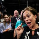Sinn Fein leader Mary Lou McDonald has criticised the DUP during her party's ard fheis in Belfast (Brian Lawless/PA)