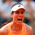 A furious Johanna Konta refused to shake hands with umpire Paula Vieira Souza after a narrow loss to Ashleigh Barty in the final of the Nature Valley Open in Nottingham