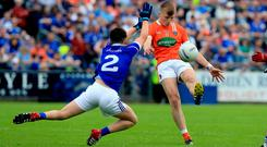 All set: Rian O'Neill is certain to be handed a key role for beleaguered Armagh in next Sunday's Ulster U20 football championship final against Derry at St Tiernach's Park, Clones