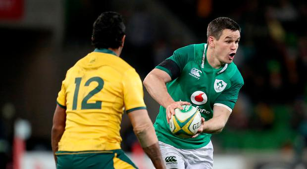 Pulling strings: Ireland's Johnny Sexton leads an attack on Saturday