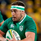 Full steam ahead: Rob Herring makes a break for Ireland at the weekend