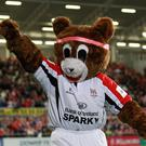Sparky the Ulster Rugby mascot. Darren Kidd /Presseye.com
