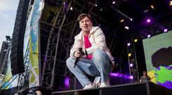 Ryan Hennessy of Picture This on stage for the third night of Belsonic. Saturday 16th June 2018. Picture by Liam McBurney/RAZORPIX