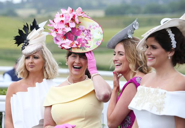 Style Sunday at Downpatrick racecourse, Co.Down - best dressed finalists pictured at the Fathers Day race meeting. Matt Mackey / PressEye.com