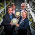From left, Michael Willis, Director at PRONI; Richard Williams, Chief Executive at NI Screen; Terry Brennan, Head of News UTV and Pauline Russell, Library Manager UTV at the extensive UTV archive collection situated at PRONI