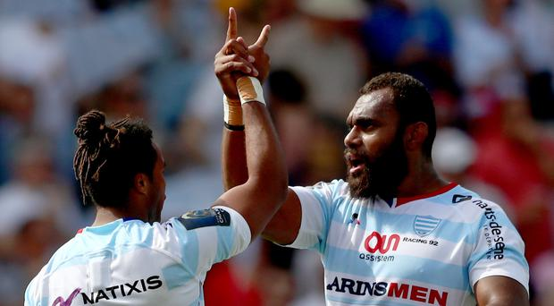 French fancy: Racing's Teddy Thomas (left) and Leone Nakarawa will be big dangers when they come to take on Ulster