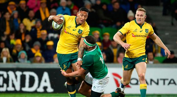 Danger man: Israel Folau was well contained by Ireland in the second Test