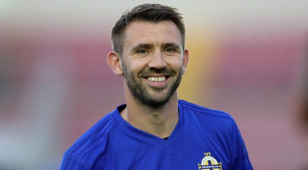 On the move: Gareth McAuley has left West Brom