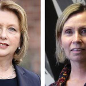 Mary McAleese and Linda Ervine.