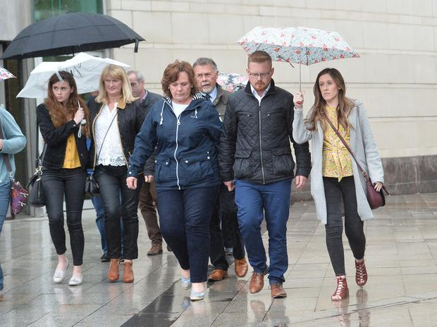 Family of Murdered Prison officer leaves Laganside Court
