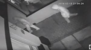 CCTV footage showing the two men entering the home of Raymond Johnston / Credit: PSNI