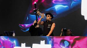 Australian DJ Timmy Trumpet performing at the fourth night of Belsonic. Thursday 21st June 2018. Picture by Liam McBurney/RAZORPIX