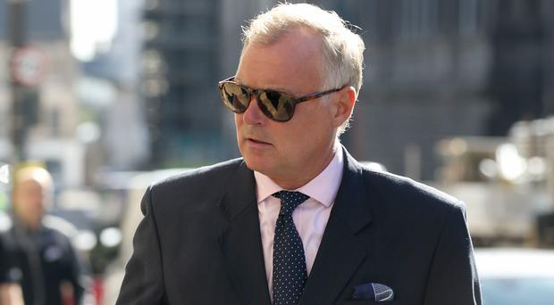 Former TV presenter John Leslie arrives at Edinburgh Sheriff Court (Jane Barlow/PA)