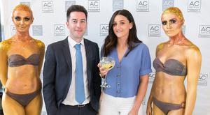 Pictured at the official launch of the AC Hotel Belfast Brian Maxwell and Ashleigh Cole.