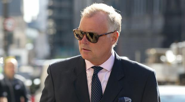 Former TV presenter John Leslie arriving at Edinburgh Sheriff Court (Jane Barlow/PA)