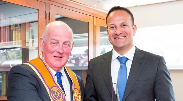 Taoiseach Leo Varadkar visits the Orange Order