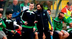 In charge: Rory Gallagher in discussion with Ryan McMenamin