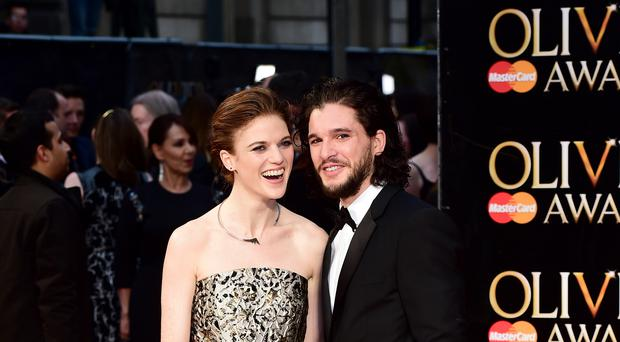 Rose Leslie and Kit Harington attending the Olivier Awards (Ian West/PA)